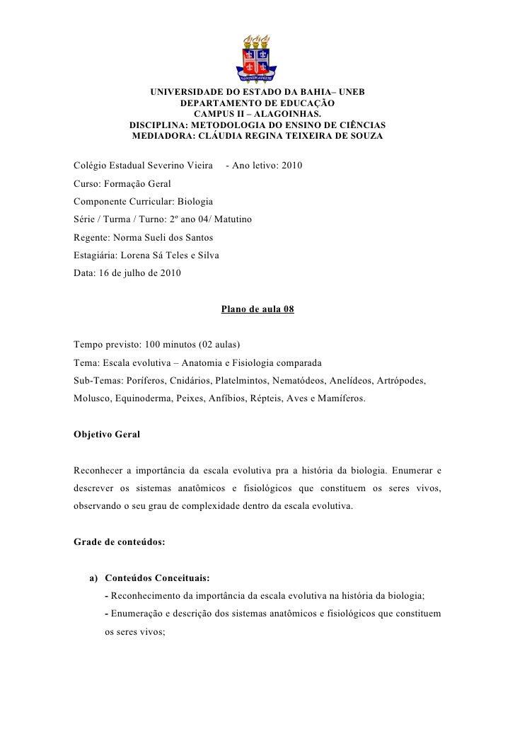 UNIVERSIDADE DO ESTADO DA BAHIA– UNEB                       DEPARTAMENTO DE EDUCAÇÃO                          CAMPUS II – ...