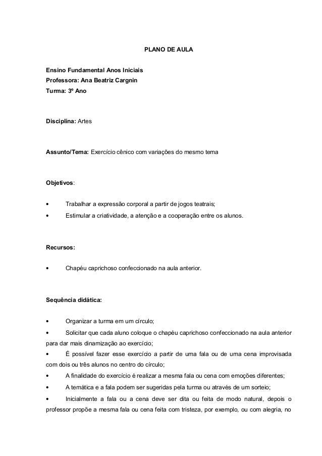 Plano de aula anos iniciais portugues