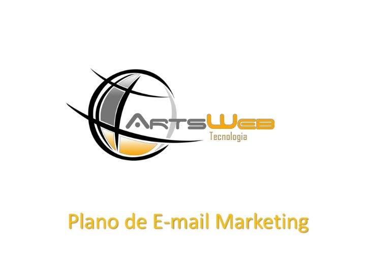 Plano de E-mail Marketing<br />