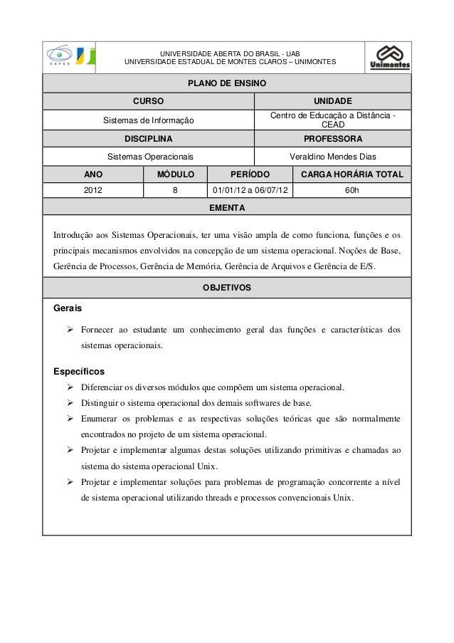 UNIVERSIDADE ABERTA DO BRASIL - UAB                     UNIVERSIDADE ESTADUAL DE MONTES CLAROS – UNIMONTES                ...