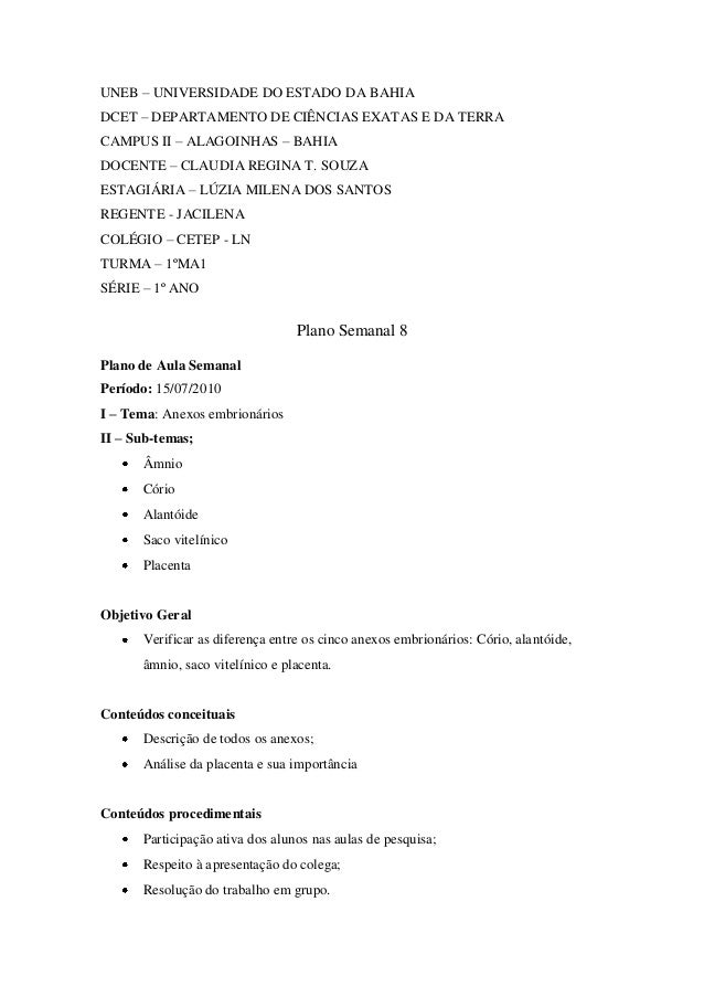 UNEB – UNIVERSIDADE DO ESTADO DA BAHIA DCET – DEPARTAMENTO DE CIÊNCIAS EXATAS E DA TERRA CAMPUS II – ALAGOINHAS – BAHIA DO...