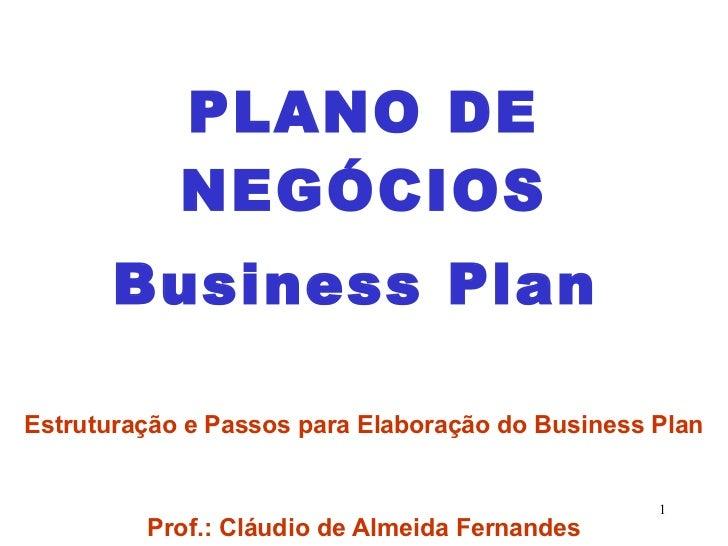 Plano De Negócios   Estrutura Passo A Passo
