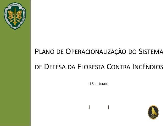 PLANO DE OPERACIONALIZAÇÃO DO SISTEMA DE DEFESA DA FLORESTA CONTRA INCÊNDIOS 18 DE JUNHO