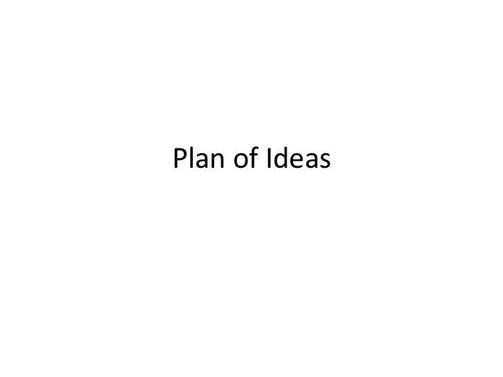 Plan of ideas a2