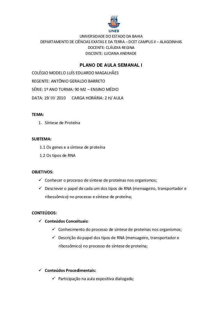 UNIVERSIDADE DO ESTADO DA BAHIA    DEPARTAMENTO DE CIÊNCIAS EXATAS E DA TERRA – DCET CAMPUS II – ALAGOINHAS               ...
