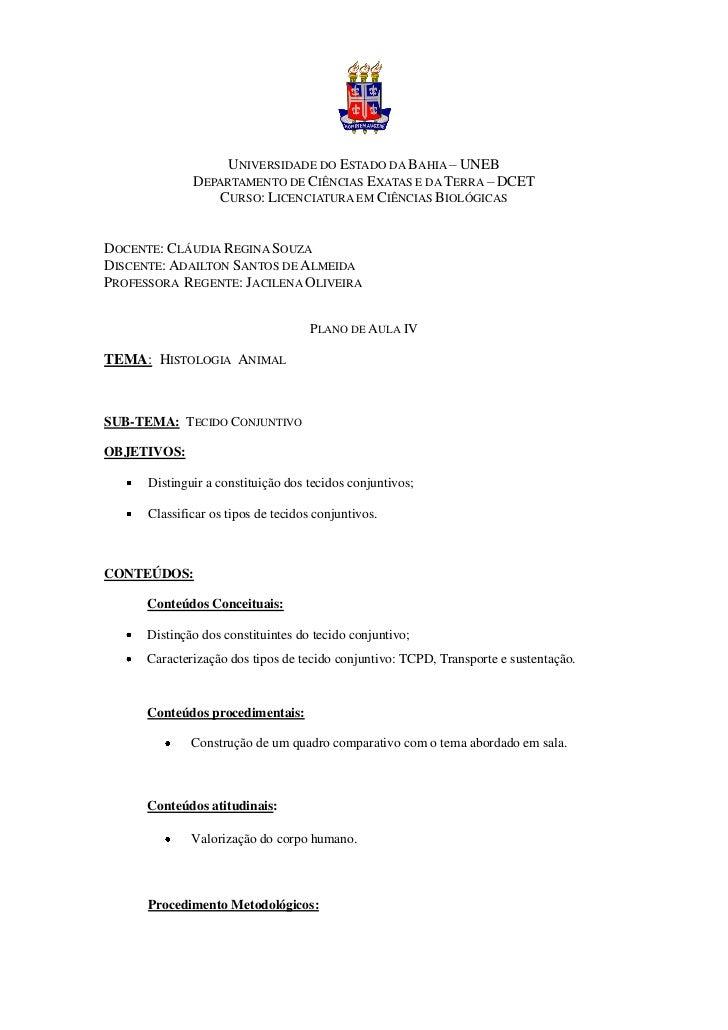 UNIVERSIDADE DO ESTADO DA BAHIA – UNEB              DEPARTAMENTO DE CIÊNCIAS EXATAS E DA TERRA – DCET                 CURS...