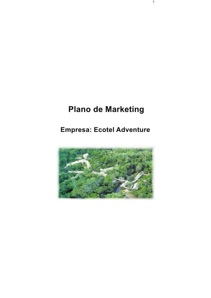 Plano de Marketing - Ecotel Adventure