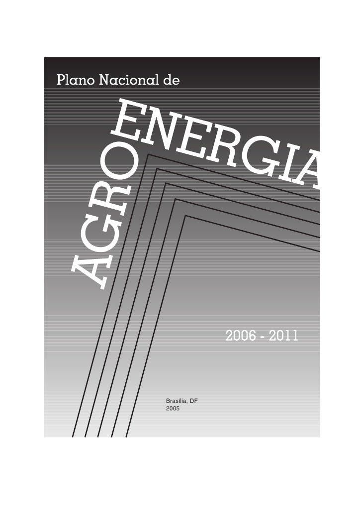 Plano Nacional de Agroenergia 2006-2011