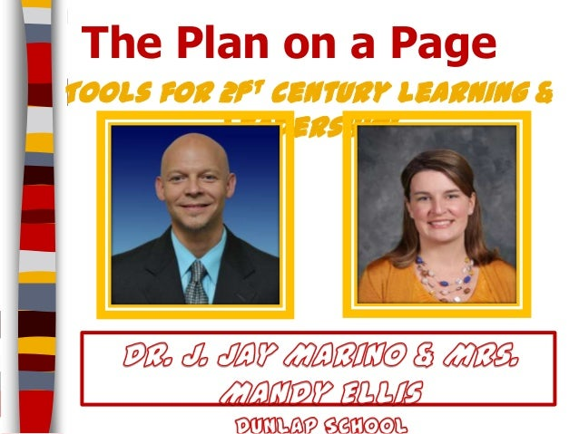 The Plan on a PageTools for 21st century learning &          leadership!
