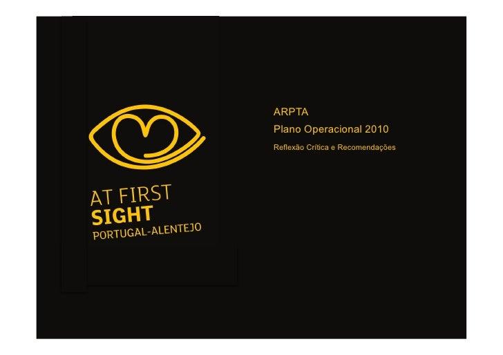 ARPTA Plano Operacional 2010 Reflexão Crítica e Recomendações