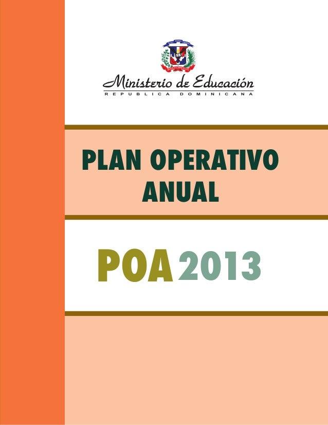 Plan operativo anual 2013