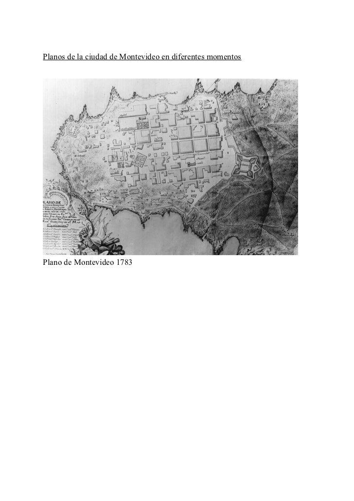 Planos de la ciudad de Montevideo en diferentes momentosPlano de Montevideo 1783