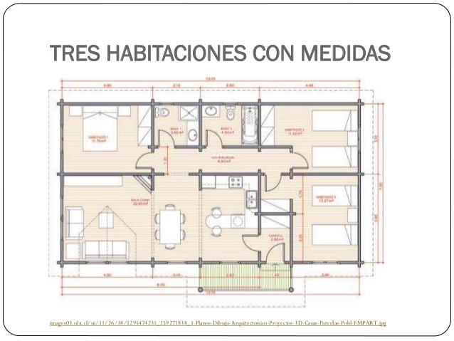 Planos de viviendas for Pie de plano arquitectonico pdf