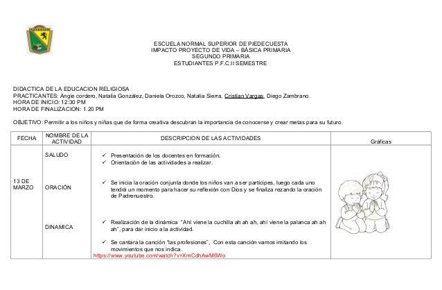 ESCUELA NORMAL SUPERIOR DE PIEDECUESTA IMPACTO PROYECTO DE VIDA – BÁSICA PRIMARIA SEGUNDO PRIMARIA ESTUDIANTES P.F.C.II SE...