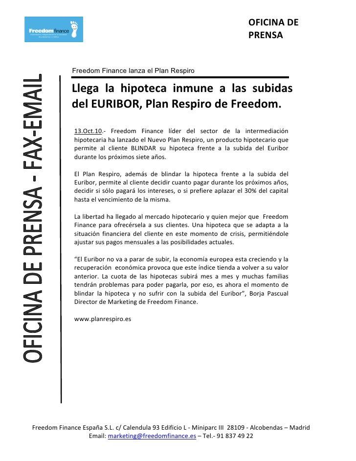 OFICINA DE                                                                              PRENSA                Freedom Fina...