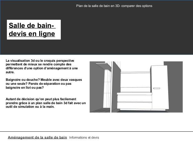 Plan salle de bain 3d for Devis salle de bain en ligne