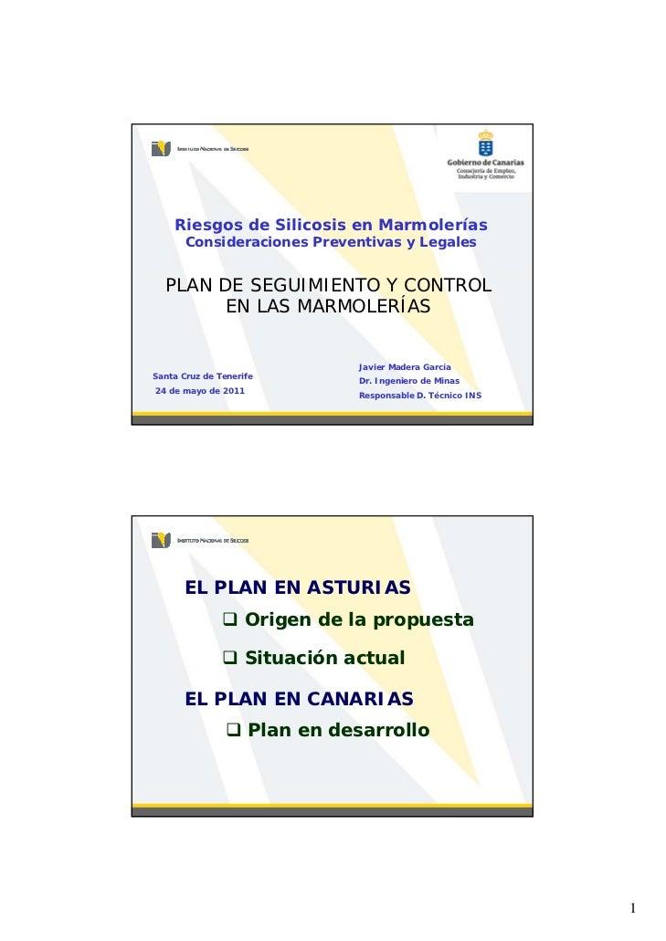 Plan de Seguridad y Control en las Marmolerías