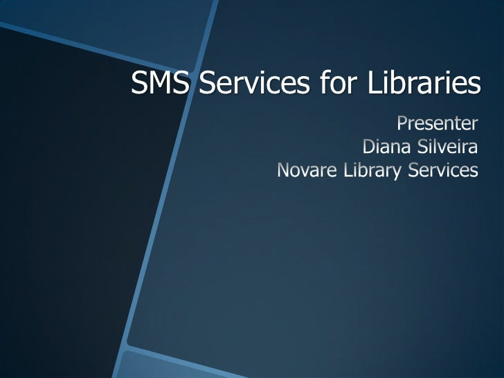 Using SMS in Your Library