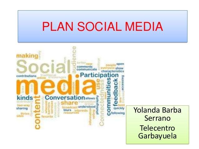 PLAN SOCIAL MEDIA            Yolanda Barba               Serrano              Telecentro             Garbayuela