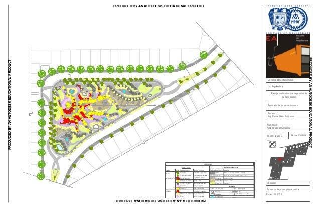 Planta arq parque central for Plantas ornamentales para parques