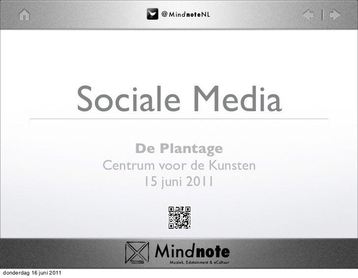 @ M i nd no t eN L                         Sociale Media                               De Plantage                        ...