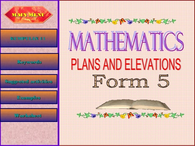 Plant and elevations