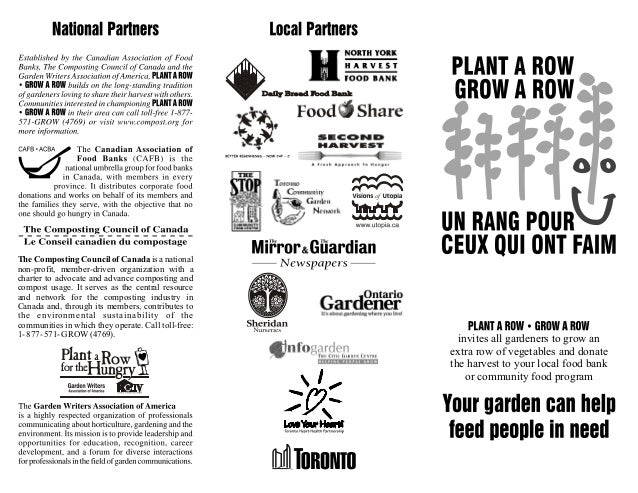 Plant a Row for the Hungry - Toronto, Canada