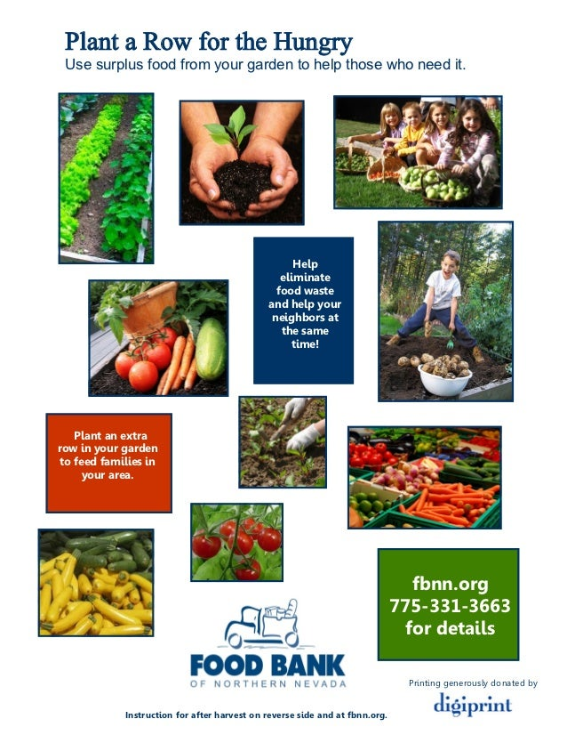 Plant a Row for the Hungry - Food Bank of Northern Nevada