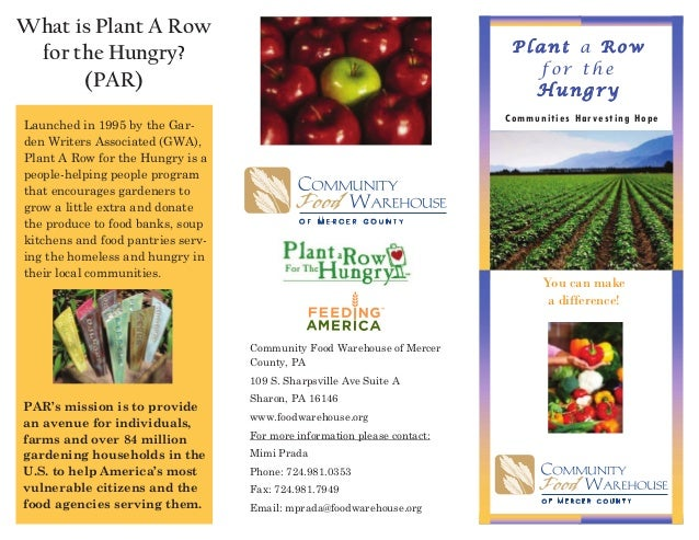 Plant a Row for the Hungry - Mercer County, Pennsylvania