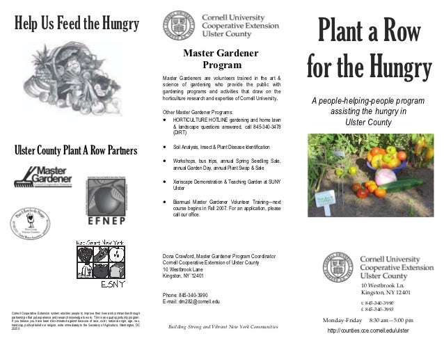 Plant a Row for the Hungry - Ulster County, New York