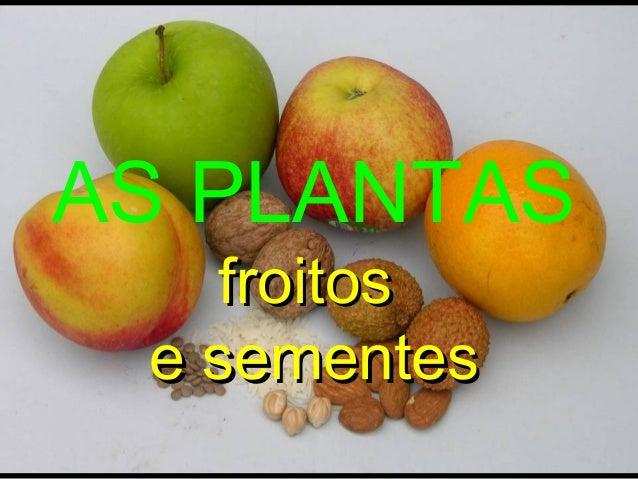 AS PLANTAS froitos e sementes