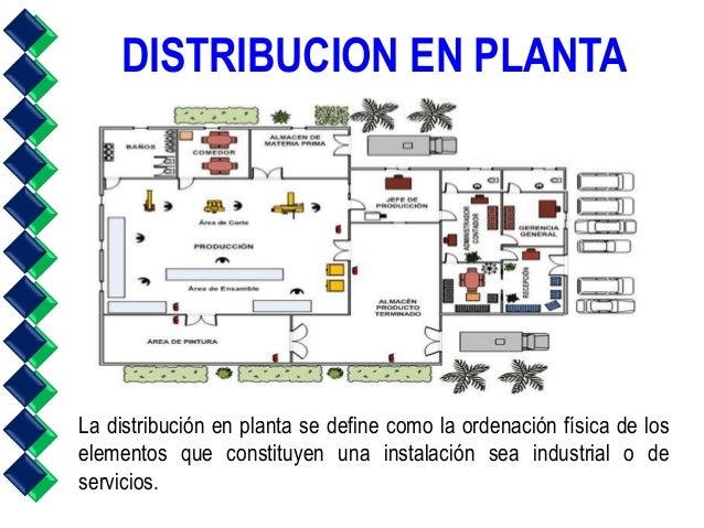 distribucion en planta la distribución en planta se define como