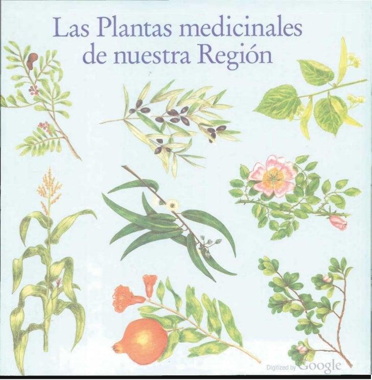 Las Plantas medicinales  de nuestra Región                   Digitlzed oy   oogIe