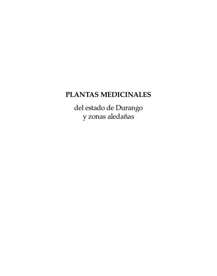 Plantas medicinales durango