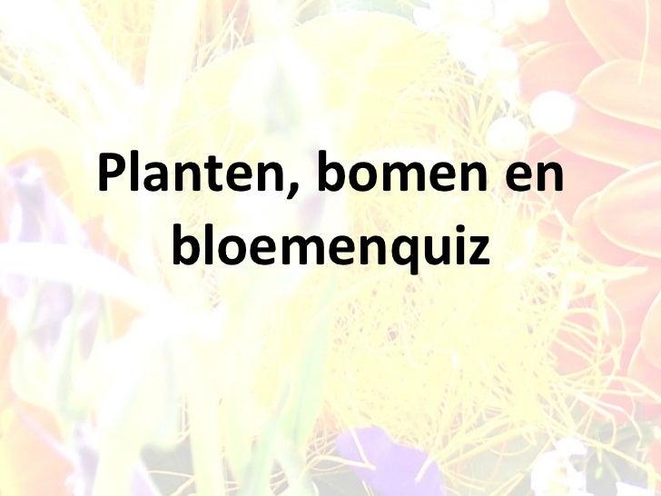 Planten, bomen en bloemenquiz