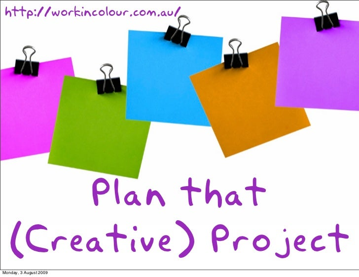 creative project planning ideas
