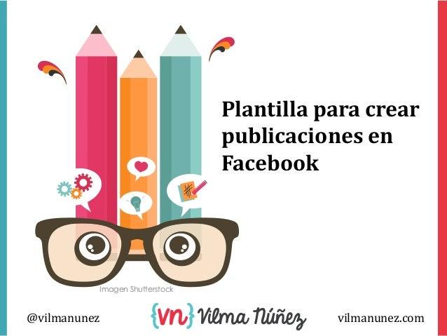 Plantilla para crear publicaciones facebook