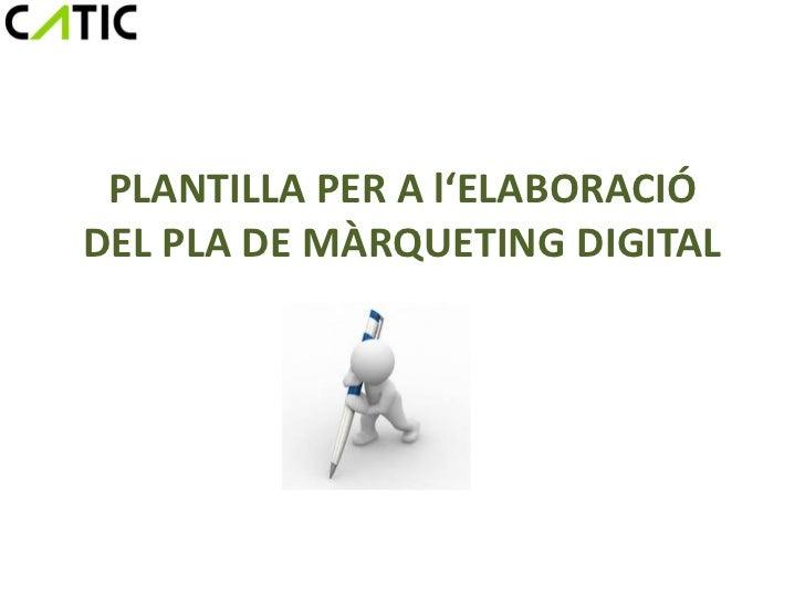 Plantilla pla marqueting digital