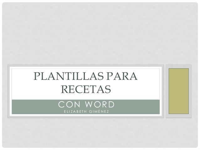 Plantillas para recetas - Plantillas para reposteria ...