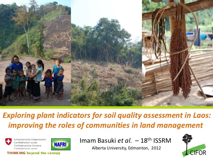 Exploring plant indicators for soil quality assessment in Laos: improving the roles of communities in land management