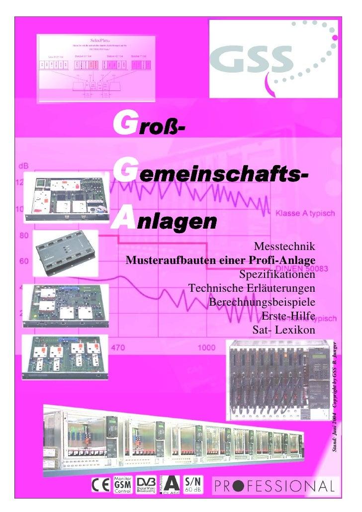 Messtechnik Musteraufbauten einer Profi-Anlage                     Spezifikationen           Technische Erläuterungen     ...
