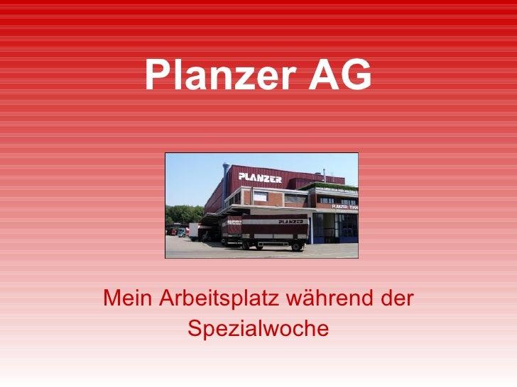 Planzer AG Mein Arbeitsplatz während der Spezialwoche