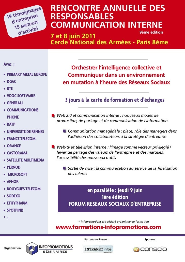 Rencontres des responsables de la communication interne 2011