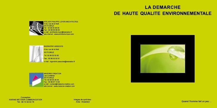 Atelier LOYER - Plaquette VERTE