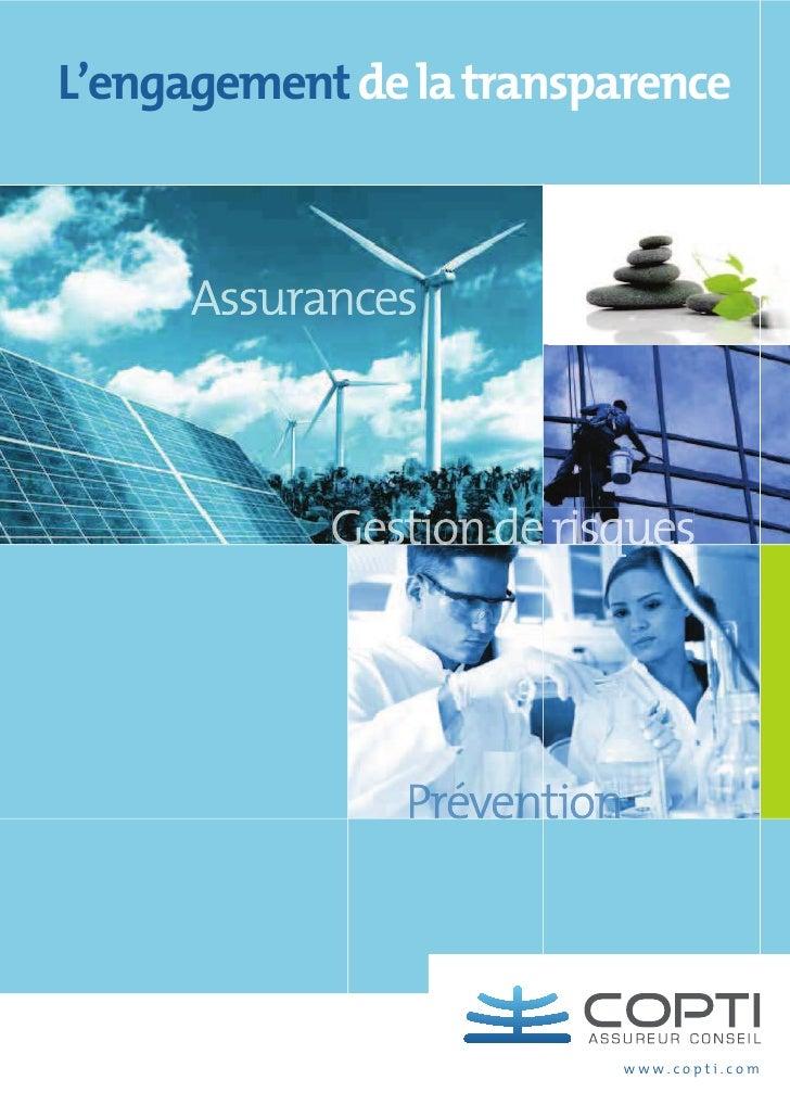 Services et expertises de COPTI Assureur Conseil