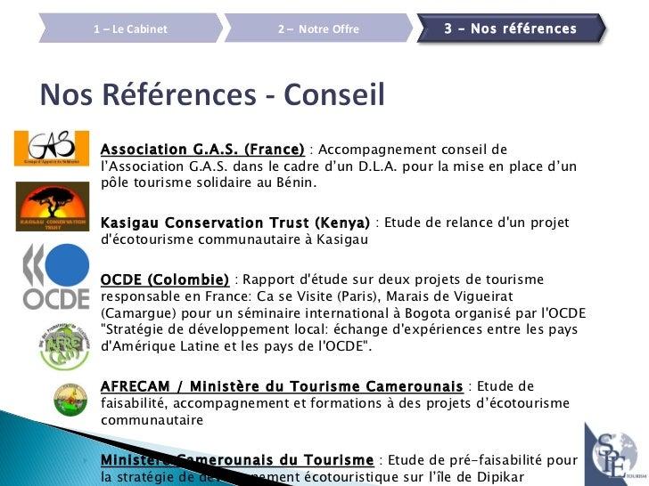 Plaquette developpement durable spe tourism - Cabinet de conseil en developpement international ...