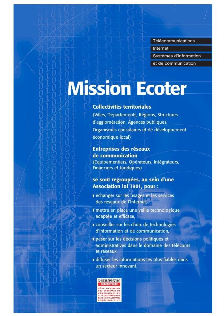 Plaquette présentation Ecoter