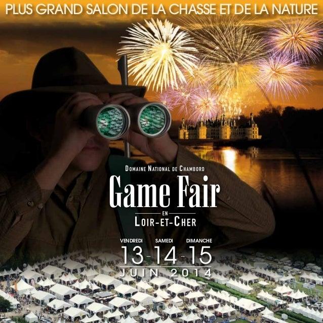 Chambord Prestige sera au Game Fair 2014