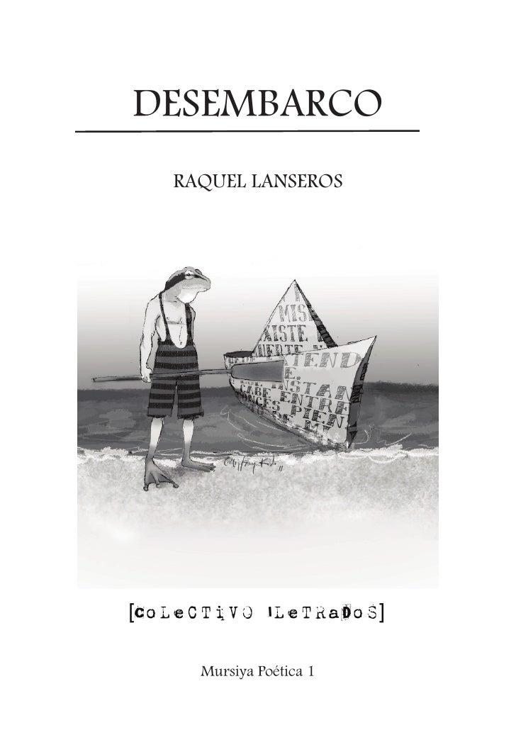 """Desembarco"" de Raquel Lanseros"