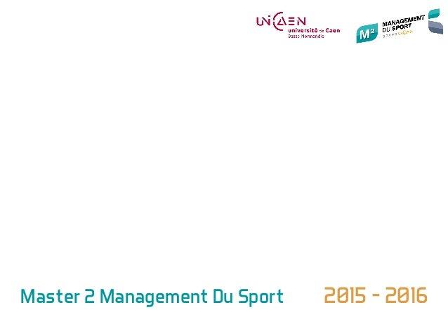Master 2 Management Du Sport 2015 - 2016